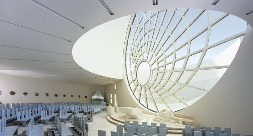 Santo Volto di Gesù Church, Rome, Italy, Sartogo Architetti Associati, Daniele Petteno Architect and Site supervisor assistant, 2004-2006.