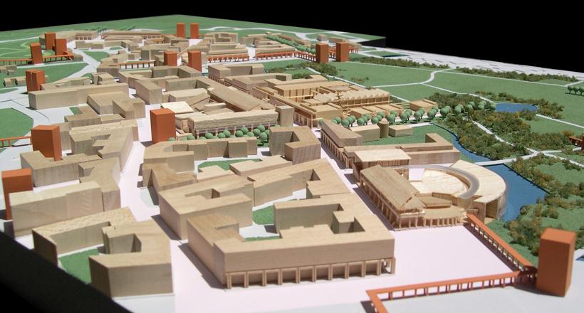 New University Settlement, Bologna, Italy, Sartogo Architetti Associati, Daniele Petteno Architect, 2003-2005.